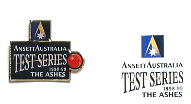 LAPEL BADGE - TEST CRICKET SERIES 1998-99